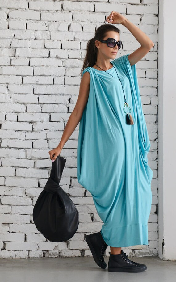 Baby Blue Maxi Dress/Mint Loose Kaftan/Oversize Summer Dress/Plus Size Maxi Dress/Maxi Black Dress/Plus Size Maxi Dress/Long Blue Dress
