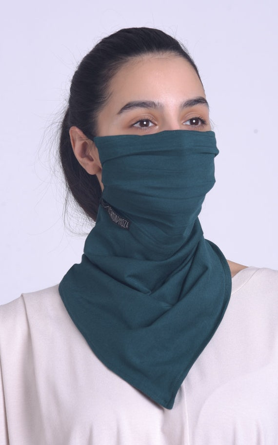 Double Layered Petrol Mask/Extravagant Bandana/Protective Neck Gaiter/Casual Scarf Mask/Safety Balaclava Mask/Face Cover with Filter