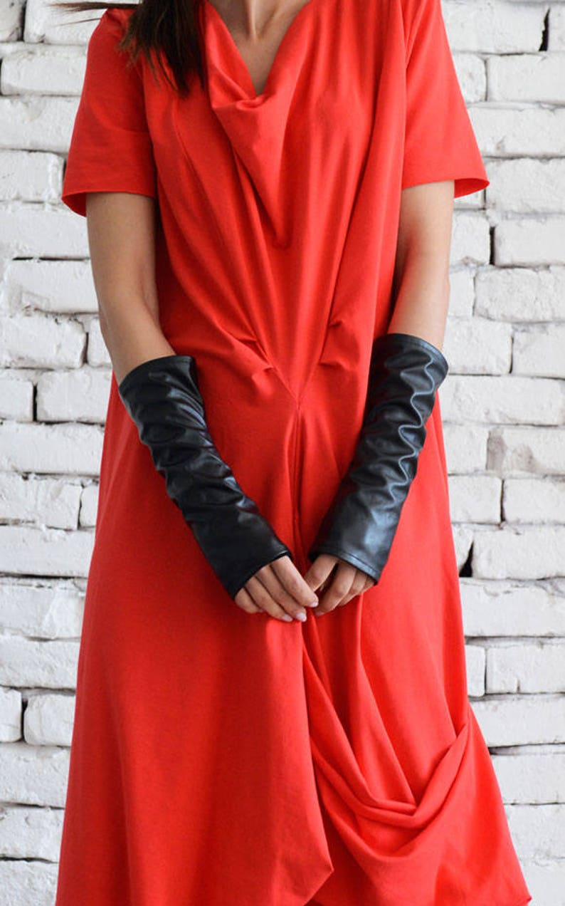 Gloves Long Womens / Faux Leather Gloves / Long Gloves / image 0