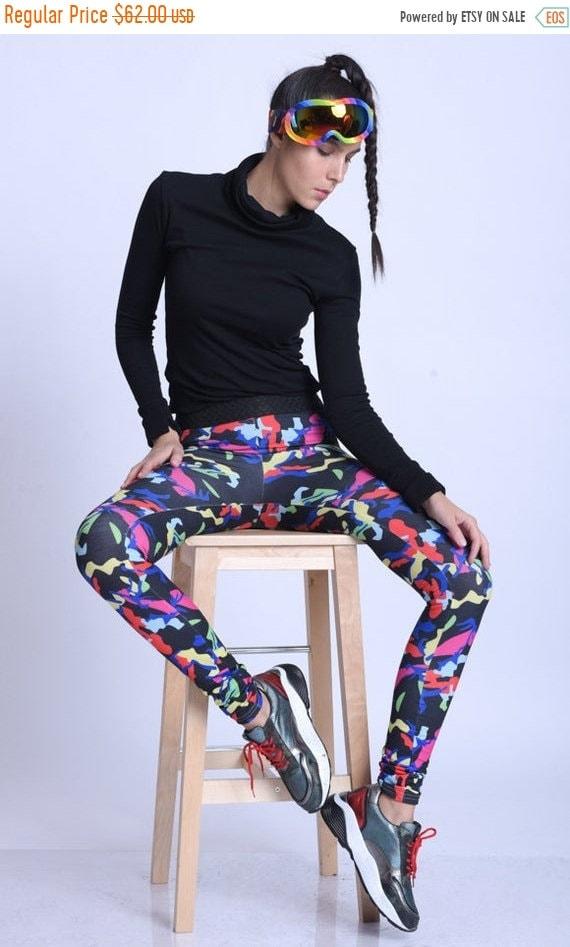 15% OFF META SPORT Extravagant Multi Color Yoga Pants/Colorful Jogger Leggings/Elastic Waist Casual Pants/Comfortable Everyday Leggings/Spor