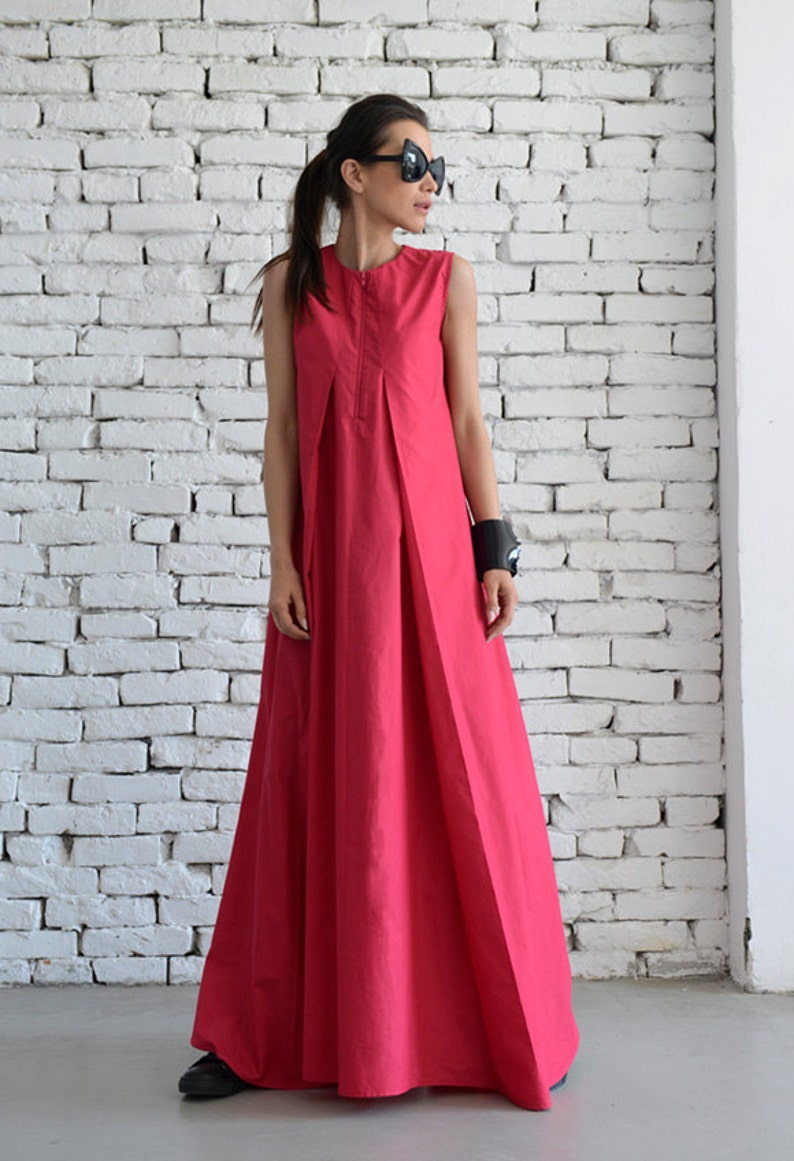 bc555a57af0 Pink Maxi Dress   Loose Long Dress   Casual Daywear Dress