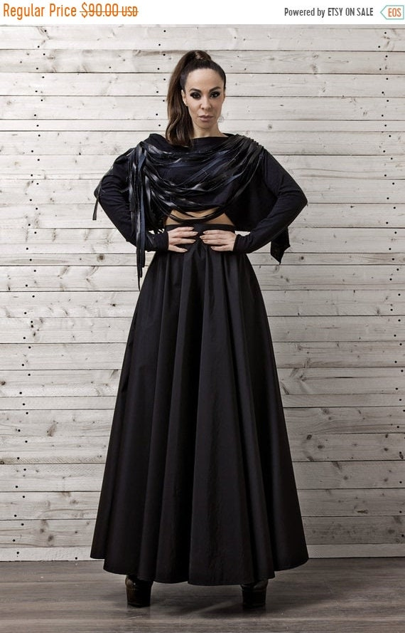 25% OFF Maxi Black Skirt / Long Black Skirt / Oversize Long Skirt / Casual Skirt - XXL, XXXL, Xxxxl Available