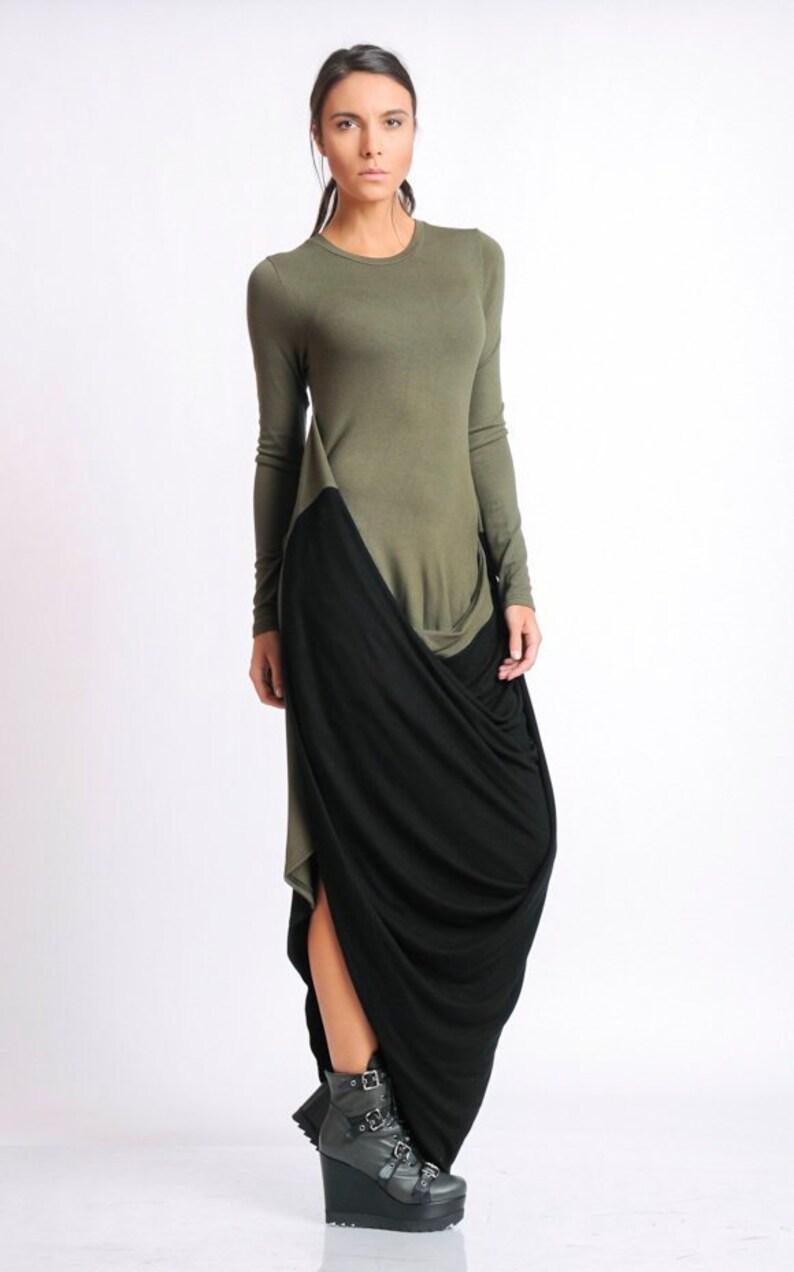 Long Sleeve Asymmetric Dress