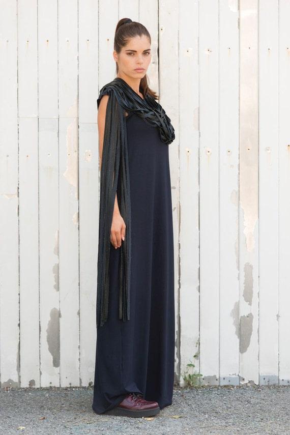 Plus Size Dress / Leather Fringing Dress / Long Fringe Loose Dress /  Oversize Stage Performance Dress / Extravagant Piece of Art Clothing