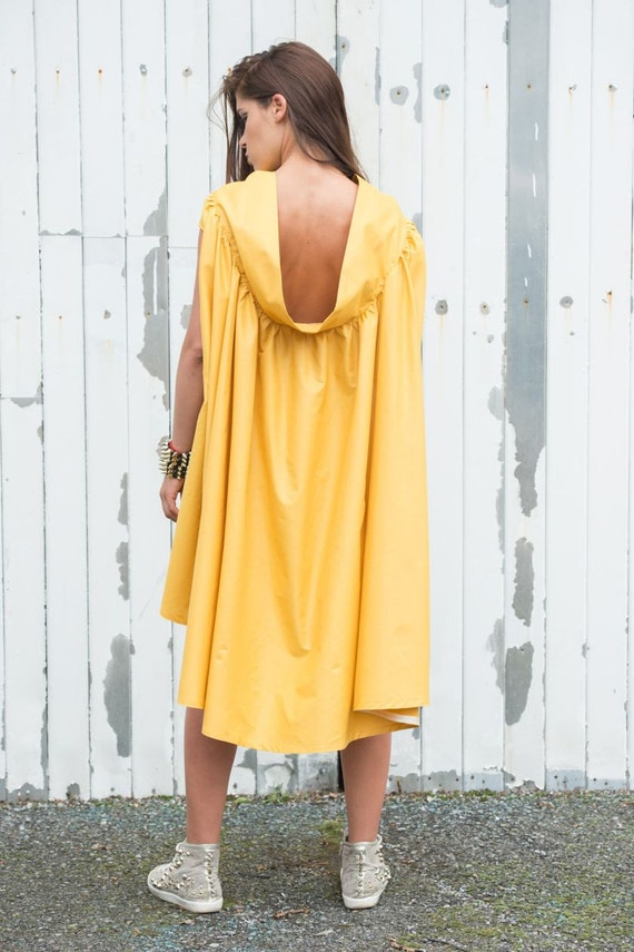 Yellow Maxi Dress/Asymmetric Summer Dress/Mustard Casual Dress/Long Tunic Dress/Maxi Dress/Oversize Tunic Top/Loose Short Dress/Casual Tunic