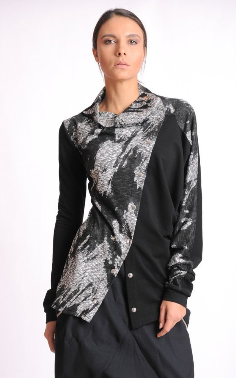 9635de5c2a5 Black Pattern Top  Casual Everyday Top Extravagant Pattern