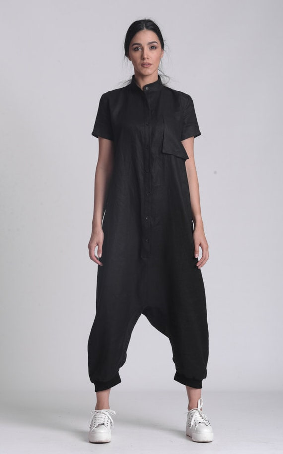 NEW Plus Size Summer Linen Jumpsuit by METAMORPHOZA