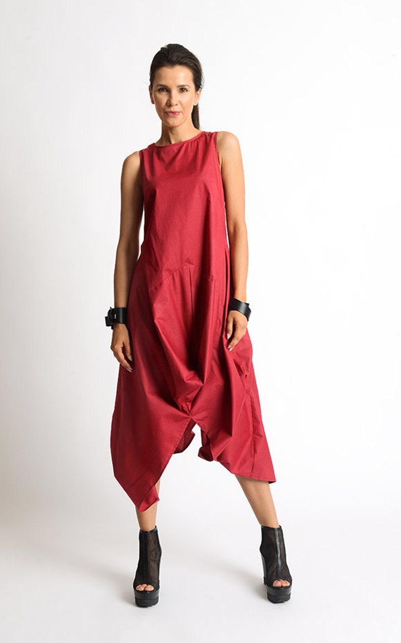 f9b842549242 Red Extravagant Dress Long Short Casual Dress Red Kaftan Loose