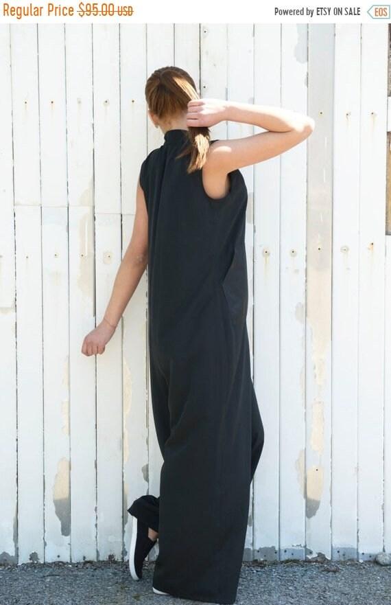 25% OFF Black Long Jumpsuit / Wide Leg Jumpsuit / Loose Pants / Black Jumpsuit / Extravagant Maxi Jumpsuit by METAMORPHOZA