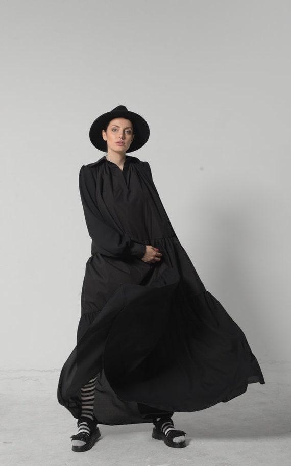 NEW Bohemian Maxi Dress / Plus Size Maxi Dress with Sleeves / Oversize Dress / Kaftan Maxi Dress