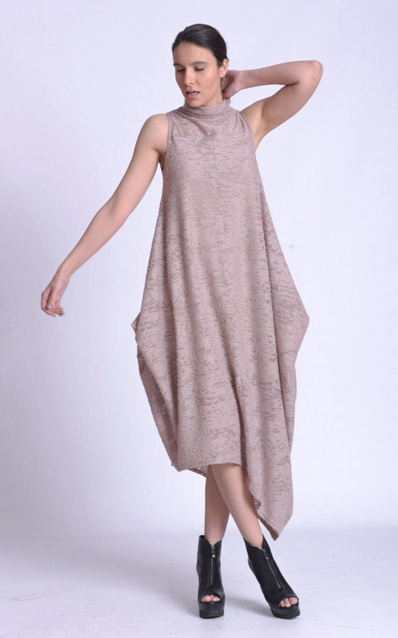 Asymmetric Plus Size Maxi Dress by METAMORPHOZA image 0