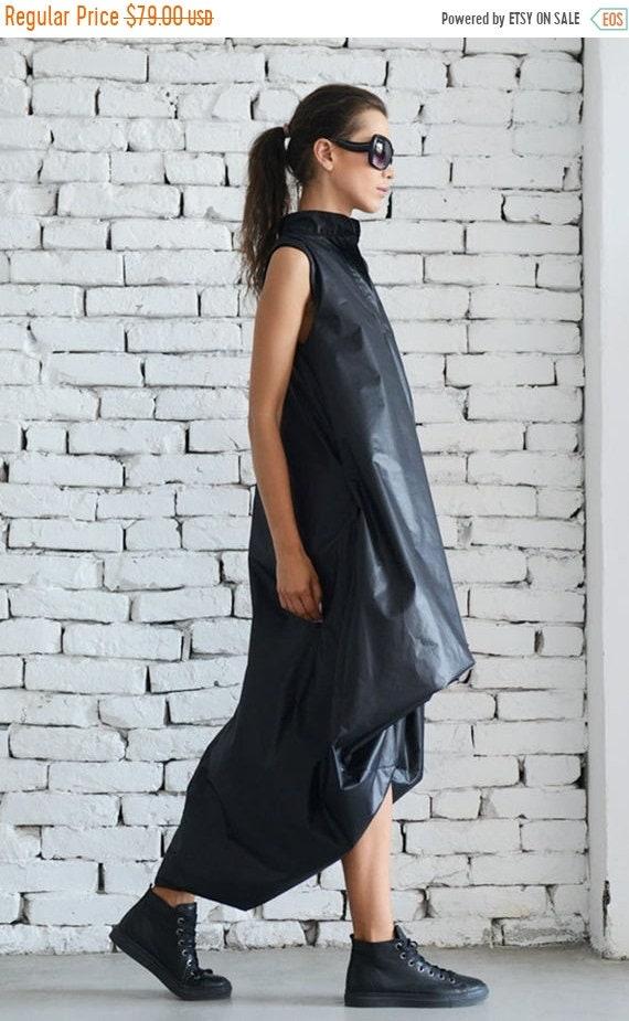 20% OFF Maxi Black Dress / Oversize Asymmetric Dress / Extravagant Long Tunic / Black Kaftan / Plus Size Maxi Dress - XXL, XXXL, Xxxxl Avail