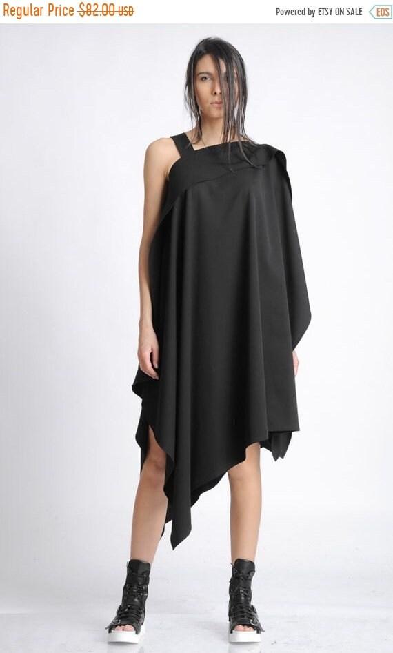 20% OFF Plus Size Maxi Tunic/Asymmetric Loose Long Top/Sleeveless Casual Short Dress/Oversize Black Tunic/Black Maxi Top/Summer Top METT0135