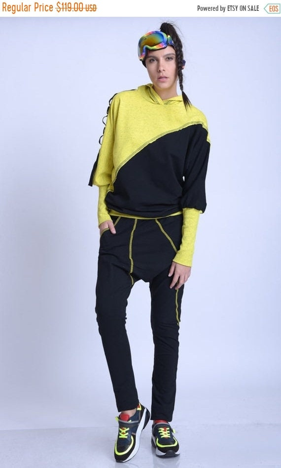 15% OFF META SPORT Everyday Casual Set/Two Color Tracksuit/Comfortable Loose Set/Extravagant Sports Set/oversize Tunic and Drop Crotch Pants