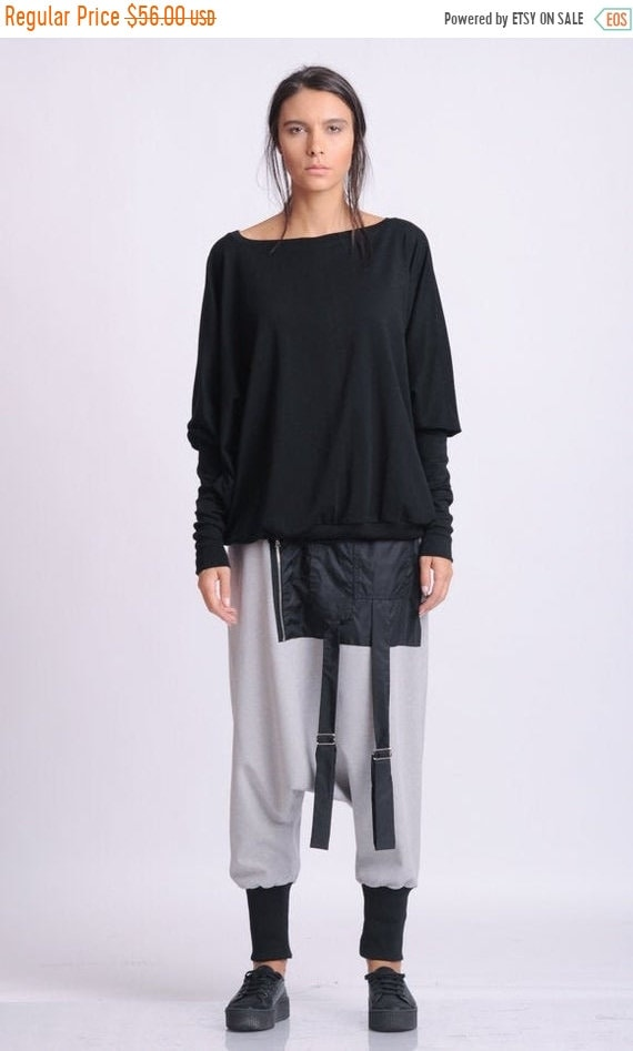 20% OFF NEW Black Extra Large Top/Plus Size Blouse/Black Maxi Shirt/Long Sleeve Casual Top/Oversize Loose Everyday Top/Top with Sleeves METT