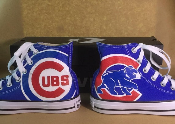 Custom, Hand Painted Chicago Cubs Converse Chuck Taylors