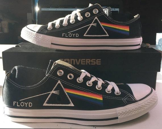 Pink Floyd Prism Custom, Hand Painted Low Top Converse