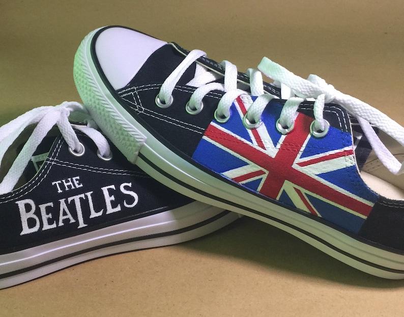 11e4e942ad1d Beatles Union Jack United Kingdom Flag Lo-Top Converse