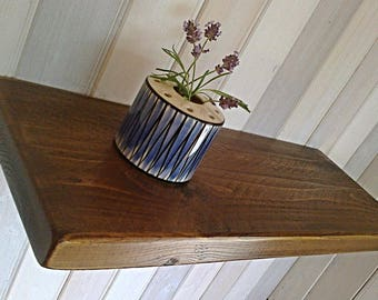 Floating Shelves, Wooden Shelves, Wall Shelf - 1ft - 6ft Waxed - Oak, Pine, Whites ** FREE UK DELIVERY **