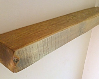 "Floating Shelves, Wooden Shelves, Wall Shelf - Royal Oak Wax - 6"" x 4"" Various Lengths** FREE UK DELIVERY **"