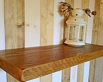 Floating Shelves, Wooden Shelves, Wall Shelf - Royal Oak Wax - ** FREE UK DELIVERY **