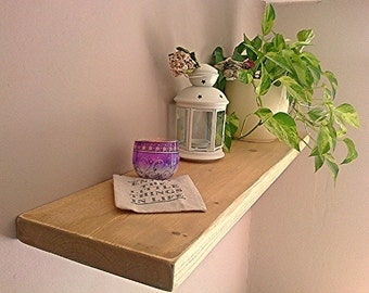 Floating Shelves, Wooden Shelves, Wall Shelf - Distressed - 1ft - 6ft - ** FREE UK DELIVERY **