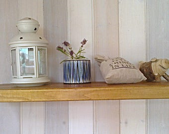 Floating Shelves, Wooden Shelves, Wall Shelf - 1ft - 6ft Waxed - ** FREE UK DELIVERY **