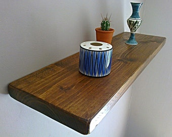 Floating Shelves, Wooden Shelves, Wall Shelf - Royal Oak - ** FREE UK DELIVERY **