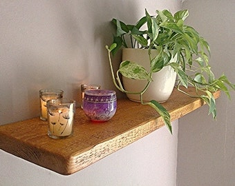 Rustic Pine Wood Floating Wall Shelf / Shelves - Antique Pine - 1ft - 6ft - ** FREE UK DELIVERY **
