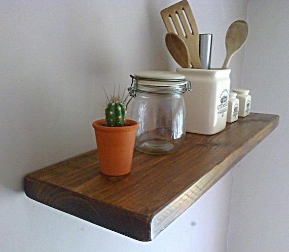 White Floating Shelves Kitchen: Kitchen Floating Wall Shelf / Shelves Oak Pine White