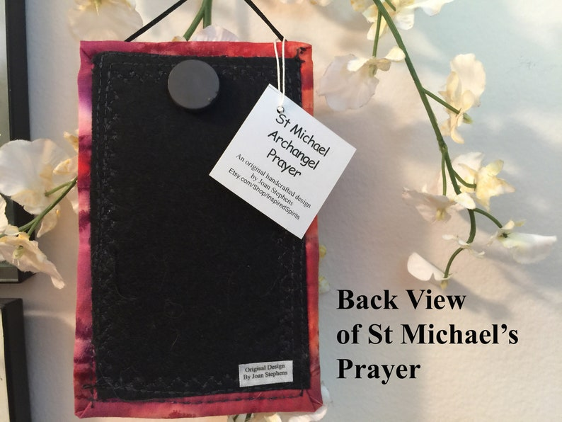 St Michael Prayer, St Michael the Archangel, Magnet, protection prayer,  prayer art, police gift, fireman gift, patron saint, #18