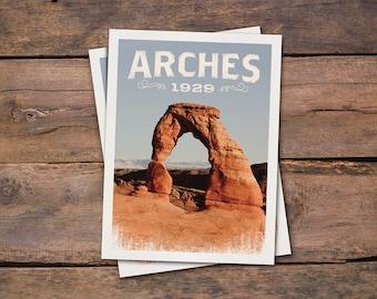 Arches National Park - Postcard - Archival Art Print