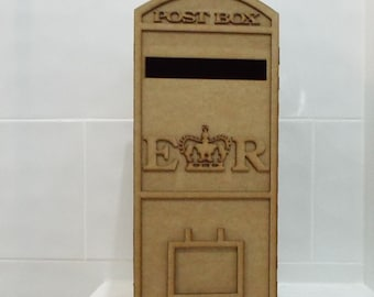 Large wedding post Box Laser cut from 3mm medite MDF flat packed