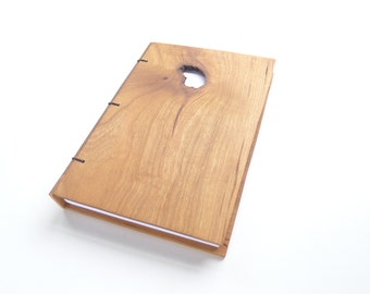 5x7 Cherry Journal Wooden Notebook Wooden Wedding Guestbook Wood Journal Engraved Notebook Wooden Sketchbook Custom Journal Travel Notebook
