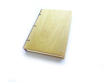 Yellowheart Wooden Notebook Wood Journal Sketchbook Rustic Wood Wedding Guest Book Personalized Journal Refillable Journal Custom Journal