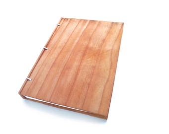 6x9 Redwood Wooden Notebook Wood Journal Sketchbook Rustic Wood Wedding Guest Book Personalized Journal Refillable Journal Custom Journal
