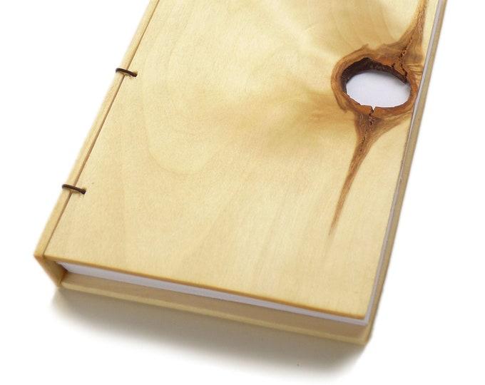 Featured listing image: 4x6 Aspen Wooden Notebook Wood Journal Sketchbook Rustic Wood Wedding Guest Book Personalized Journal Refillable Journal Custom Journal