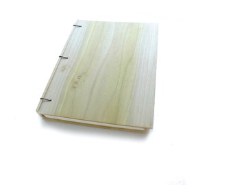 Poplar Wooden Notebook Wood Journal Sketchbook Rustic Wood Wedding Guest Book Personalized Journal Refillable Journal Custom Journal