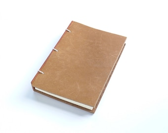 Brown Leather Journal Leather Notebook Gift for Writer Refillable Journal Leather Sketchbook Leather Travel Notebook
