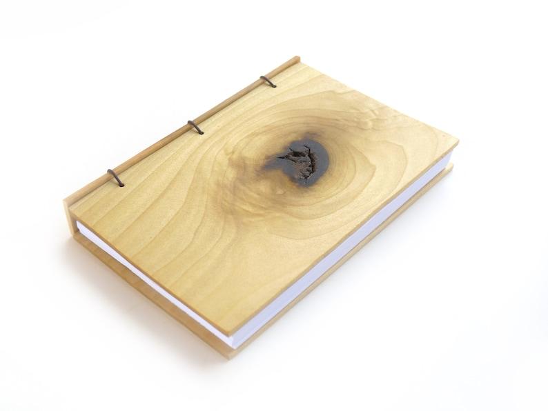 4x6 Poplar Journal Wooden Notebook Wood Guestbook Gratitude image 0