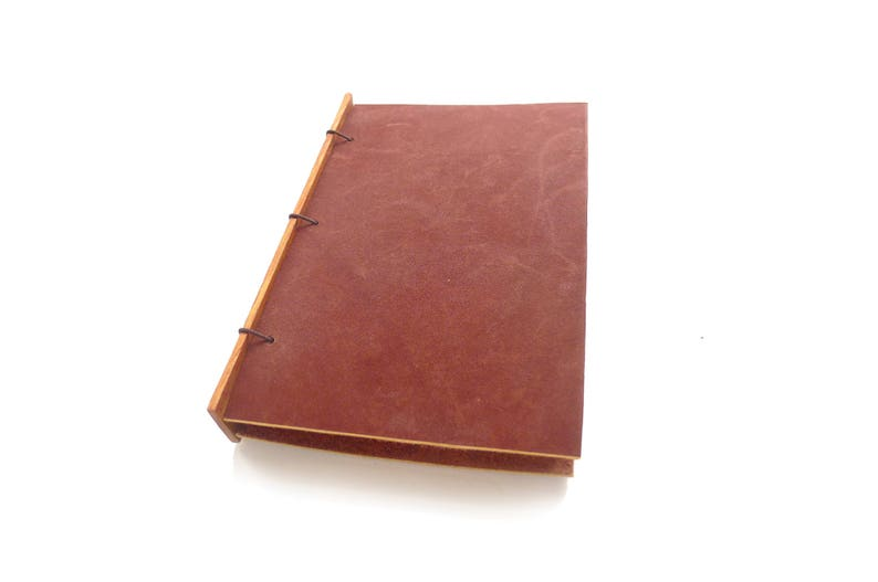 Dark Brown Leather Journal Leather Notebook Gift for Writer image 0