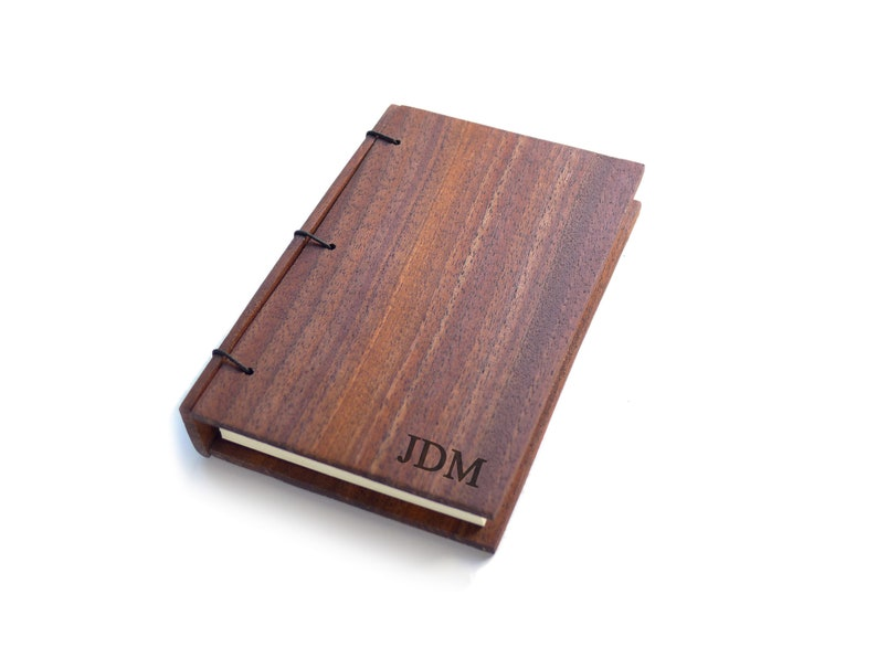 Walnut Wood Journal Personalized Journal Wooden Notebook image 0