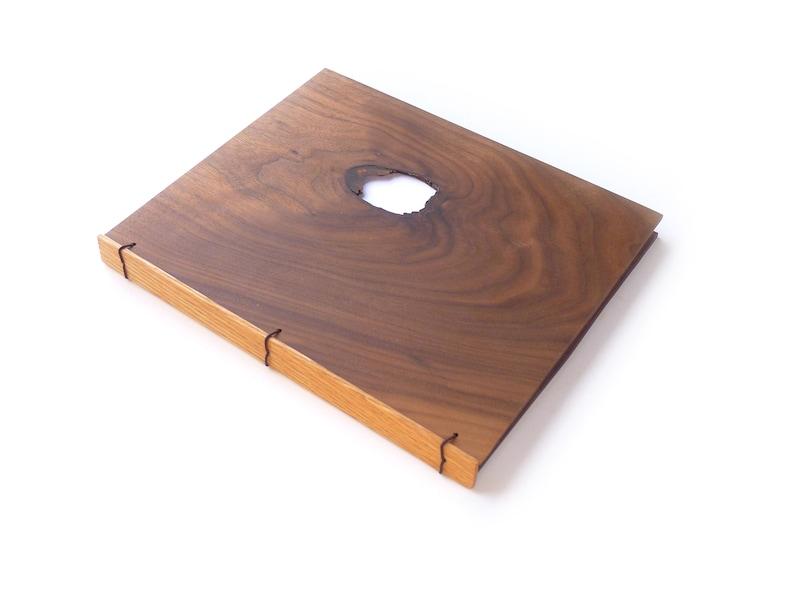8x10 Walnut Wooden Notebook Wood Journal Sketchbook Rustic image 0