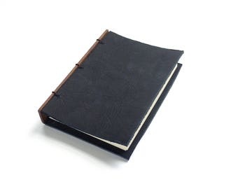 Black Leather Journal Leather Notebook Gift for Writer Refillable Journal Leather Sketchbook Leather Travel Notebook