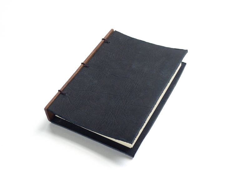 Black Leather Journal Leather Notebook Gift for Writer image 0