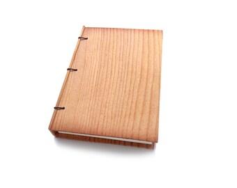 Pine Wooden Notebook Wood Journal Sketchbook Rustic Wood Wedding Guest Book Personalized Journal Refillable Journal Custom Journal