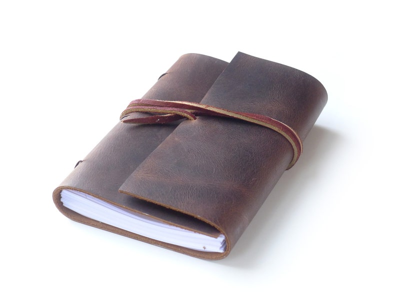 Brown Leather Journal Leather Notebook Gift for Writer image 0