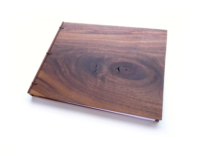 8x10 Walnut Wooden Sketchbook Wood Guestbook Wood Journal image 0