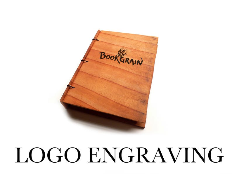 Logo on Notebook Business Logo on Wood Logo Engraved on Wood image 0