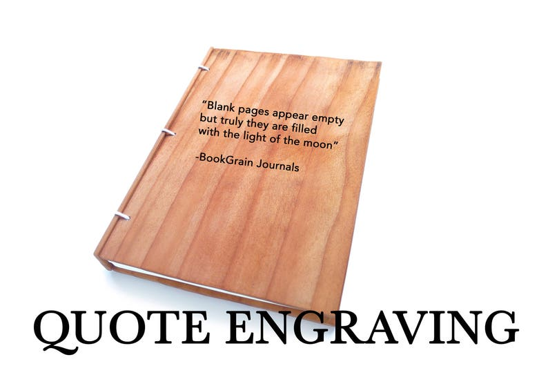 Custom Quote Message or Text on Journal Quote Engraving image 0